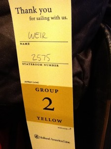 coloured luggage labels