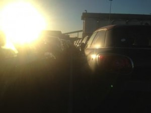 Glare increases opportunity for accident to happen